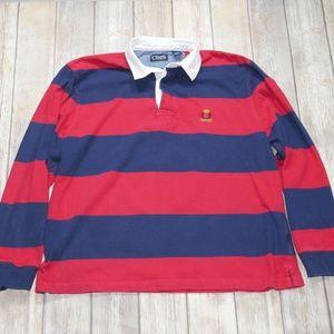 Chaps Men's Bold Striped Long Sleeve Polo Size 2XL